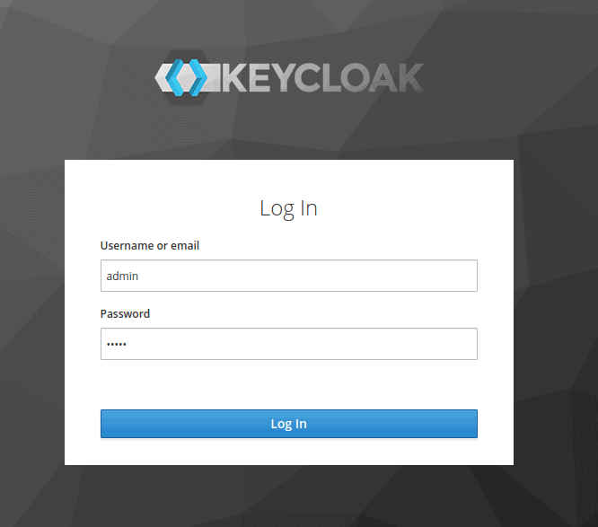 The image shows the Keycloak login page
